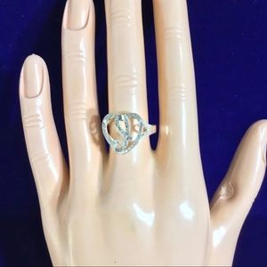 sterling silver initial (j) ring sz 8